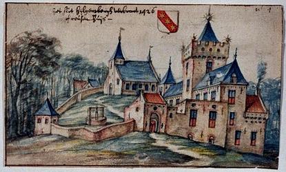 XXXI-162-00-01 Het slot Hijlgersbergh of reusenhuijs verbrant 1426