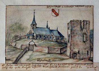 XXXI-162-01-00-01 Kerk en ruïne van het slot Hillegersberg.