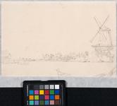 XXXI-177 Op de voorgrond de Rotte, stroomafwaarts gezien; rechts de oliemolen De Koot en ongeveer in het midden herberg ...