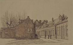 XXXI-179-03 Bergse Rechter Rottekade. Links huizen met café In den Baars .