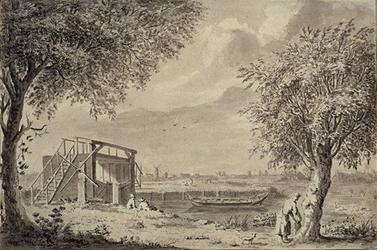XXXI-187 Het sluisje bij de Oranje Boom aan de Rotte.