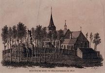 XXXI-209-00-01 De rüine van het kasteel en de kerk te Hillegersberg.
