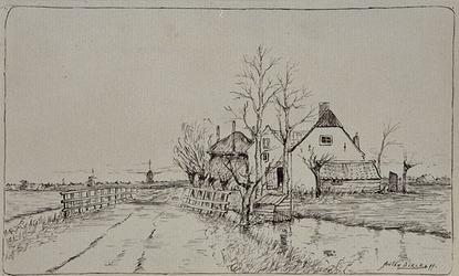 XXXI-236 Gezicht op de Kleiweg te Hillegersberg.