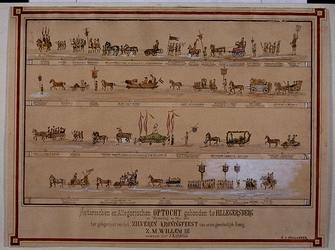 XXXI-237-07 20 mei 1874Historische en allegorische optocht gehouden te Hillegersberg ter gelegenheid van zilveren ...