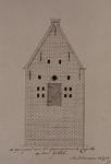 XXXI-28-2 De achtergevel van de gevangenis te Capelle aan den IJssel.