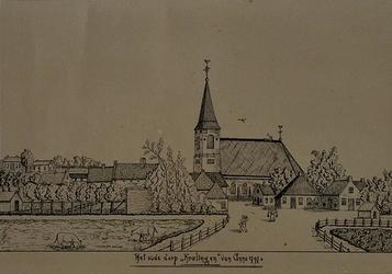 XXXI-284 Veenweg, het oude dorp Kralingen anno 1797.