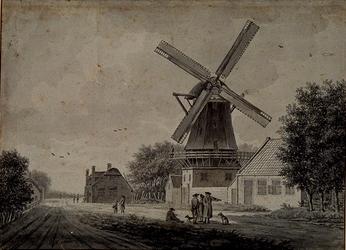 XXXI-293 Honingerdijk met molen en herberg.