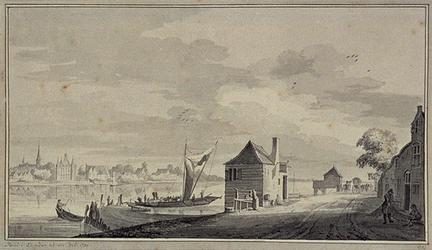 XXXI-306 Het Kralingseveer, aan de overzijde IJsselmonde.