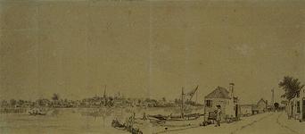 XXXI-316 Het dorp IJsselmonde, gezien vanaf de overkant.