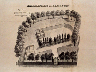 XXXI-353-1 Gezicht op de begraafplaats aan de Kralingseweg.