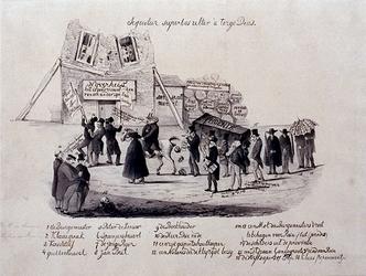 XXXI-354-00-03 1848Spotprent over de burgemeester van Kralingen, R.H. van Someren.