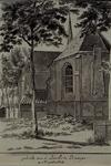 XXXI-358-00-03-01 De koorzijde van de Kerk te Krimpen aan de Lek.