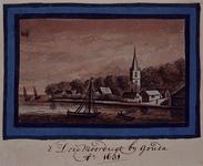 XXXI-364-3 Het dorp Moordrecht bij Gouda. Anno 1631. (in spiegelbeeld).