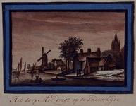 XXXI-364-4 Het dorp Moordrecht bij Gouda.
