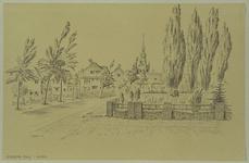 XXXI-406-09 Gezicht op de Rotterdamse Rijweg vanaf de hoek van de Theodora Jacobalaan, uit het zuidoosten.