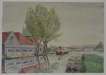 XXXI-413-04 De Rotterdamse Schie bij de Schans, uit het westen. Rechts het Schie-Schiekanaal.
