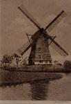 XXXI-453-03 Gezicht op de watermolen aan de Lede in de polder Schieveen te Berkel en Rodenrijs, ten noorden van de Zweth.