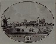 XXXI-478 Gezicht op het dorp Pernis.