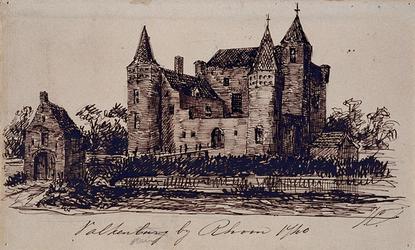 XXXI-543 Gesicht op het huis Valkenstein.