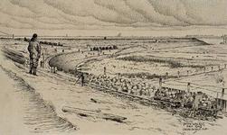 XXXI-597-06 Werkzaamheden bij het uitvoeren van het Botlekplan, op het eiland Rozenburg, bouw van de dam Rozenburg - ...