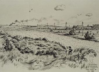 XXXI-597-08 Natuurschoon op het eiland Rozenburg by De Beer .