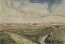 XXXI-597-15 Opspuitingen in het oostelijk deel van Rozenburg, grenzend aan Welplaat vanaf de Binnendijk.