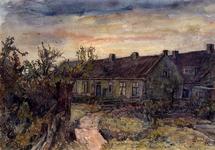 XXXI-597-201 Huizen aan de Molenweg, te Rozenburg gezien uit het noorden. Ten zuiden van kruispunt Molenweg - Emmastraat.