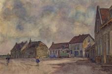 XXXI-597-47 Gezicht op de Blankenburgseweg in het centrum van het buurtschap Blankenburg, bij de verbreding van de weg, ...