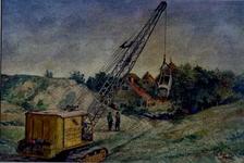 XXXI-608-03-41-2 Gezicht op het afgraven van de Welplaat.