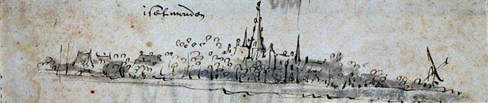 XXXI-617 Iselmonden Gezicht om IJsselmonde uit het noorden.