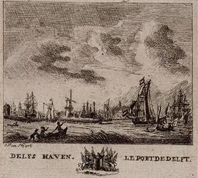 XXXI-73 Gezicht op de Nieuwe Maas met de Delfshaven, uit het zuiden.