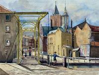 XXXI-792-07 Gezicht op de Ooievaarsbrug bij de Schie, uit het noorden.