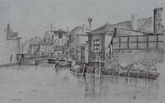 XXXI-840 De Spoelingbrug over de Schie bij het Overschiese plein, gezien vanaf de Noordvestsingel.