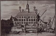 XXXI-93 Gezicht op het gebouw van de VOC aan de Achterhaven, uit het westen.