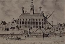 XXXI-94 Het magazijn van de Oostindische Compagnie der Kamer Delft te Delfshaven, anno 1670.
