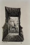 XXXI-947 Een hofje in de Raam in Schiedam.