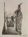 XXXI-948 Een steegje ten westen van de Raamsteeg in de Raam in Schiedam.