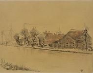 XXXI-960 Boerderij aan de westzijde van de Schie in Schiedam.