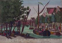 XXXII-1-01 Gefantaseerd havengezicht, waarop in de verte een klein ophaalbruggetje te zien is.