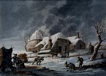 XXXII-14 Buijten Rotterdam in den winter van 1816