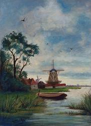 XXXII-25 Landschap met molens.