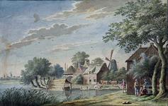 XXXII-4 Huizen aan de Sluisjesdijk.