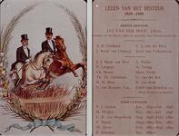 XXXIII-103-2 1889Lijst van bestuursleden van de Rotterdamse Manege, van 1839-1889.