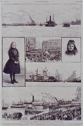 XXXIII-120-B 1891Bezoek van H.H.M.M. de Koningin en de Koningin Moeder.Het franstalige tijschrift L Illustration liet ...