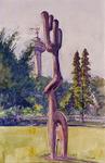 XXXIII-1250-21-02-2 25 maart - 25 september 1960Floriade.Beeldhouwwerk Grooze Vegetation van de Frankforter beeldhouwer ...