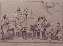 XXXIII-136 1894Verkiezingen voor de Tweede Kamer.Spotprent op de verkiezing van Mr. Roëll te Rotterdam en Den Haag, van ...