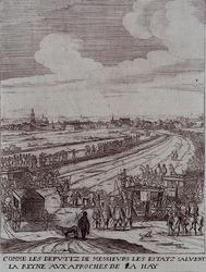XXXIII-14-14 1638Bezoek van Maria de Medici aan Den Haag.
