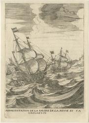 XXXIII-14-3 1638Voorstelling van het schip van Maria de Medici naar aanleiding van een bezoek aan Rotterdam.