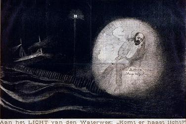 XXXIII-145-02 De minister van Wijck wegens het uitblijven van een vuurtoren aan de Nieuwe Waterweg.