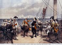 XXXIII-16-1 1639Maarten Harpertsz. Tromp voor aanvang van de zeeslag bij Duins.